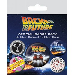 Pack Chapas Regreso al Futuro Delorean