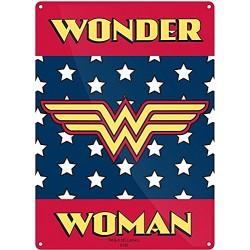 Chapa Metálica Wonder Woman Logo