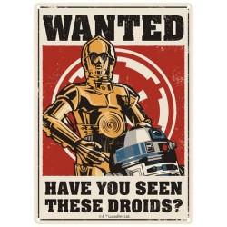 Chapa Metálica Star Wars Droids