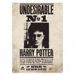 Chapa Metálica Harry Potter Undesirable