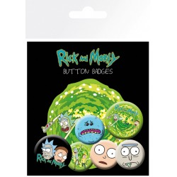 Pack Chapas Rick y Morty Characters