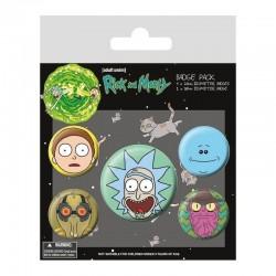 Pack Chapas Rick y Morty Heads