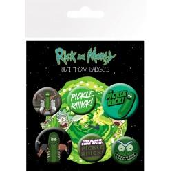 Pack Chapas Rick y Morty Pickle