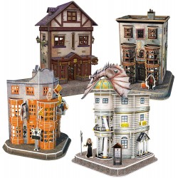 Puzzle 3D Harry Potter - Callejón Diagon (273 piezas)