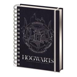 Cuaderno A5 HP Hogwarts Plata