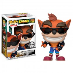 Funko Pop! Crash Bandicoot - Crash Bandicoot Ropa de Motero (Exclusivo) (275)