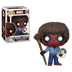 Funko Pop! Marvel - Deadpool como Bob Ross (319)