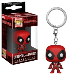 Llavero Pop Deadpool Espadas