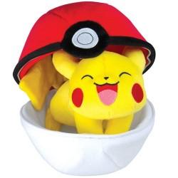 Peluche Pikachu Pokeball 20 cm
