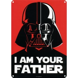 Chapa Metálica Star Wars I Am Your Father