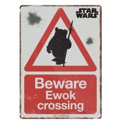 Chapa Metálica Star Wars Ewok