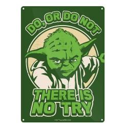 Chapa Metálica Star Wars Try Yoda