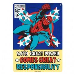 """Chapa Metálica - Marvel - """"Un gran poder conlleva una gran responsabilidad"""" - Spider-man"""