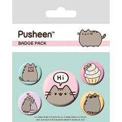 Pack Chapas Pusheen Says Hi