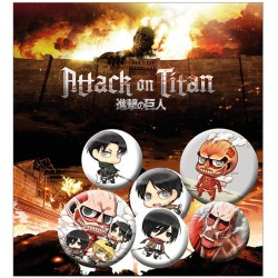 Pack Chapas Attack on Titan Mix 2