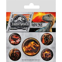 Pack Chapas Jurassic World FK