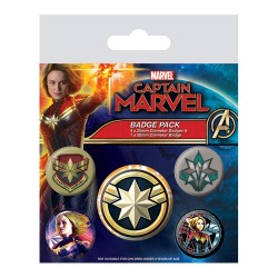 Pack Chapas Capitana Marvel