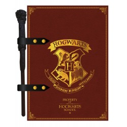 Libreta Hogwarts Con Lapiz